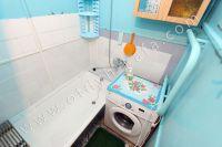 Выбирайте жилье в Феодосии – квартиры  - Современная стиральная машина в ванной комнате